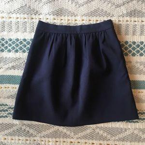 J crew navy dress skirt